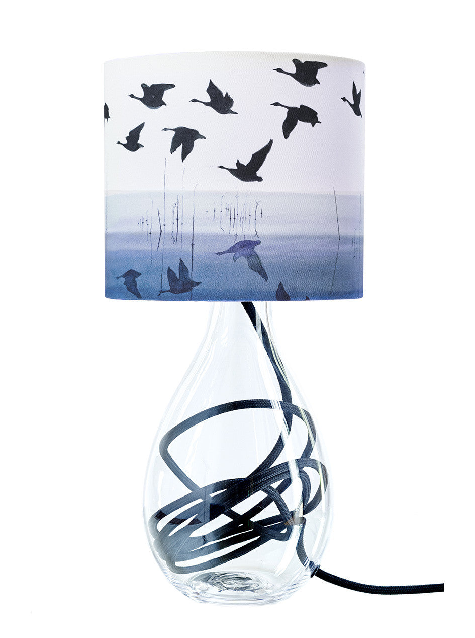 Welsh Reflection in INDIGO lamp<br />SMALL, 2 flex colour options