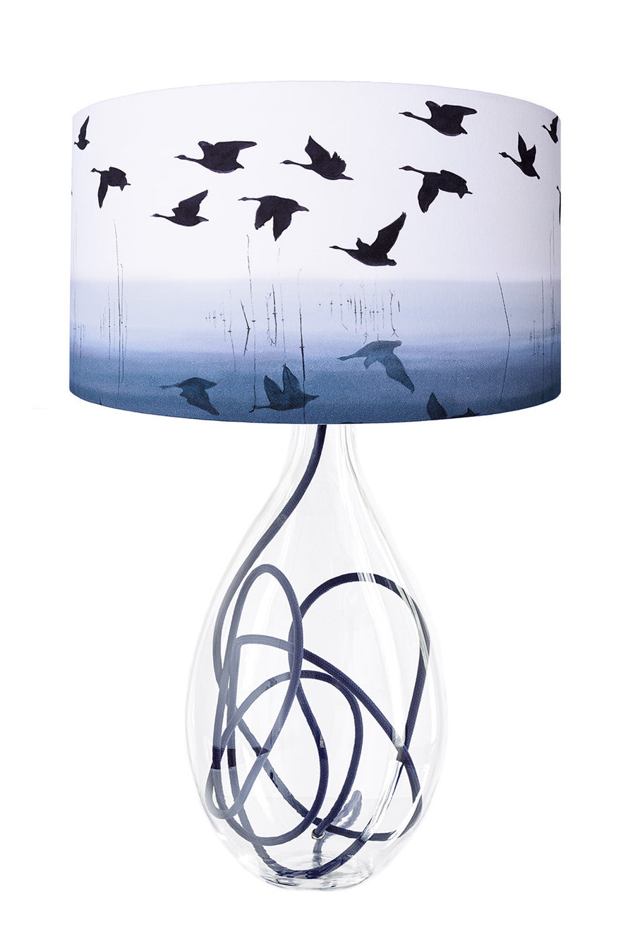 Welsh Reflection in INDIGO lamp<br />LARGE, 2 flex colour options