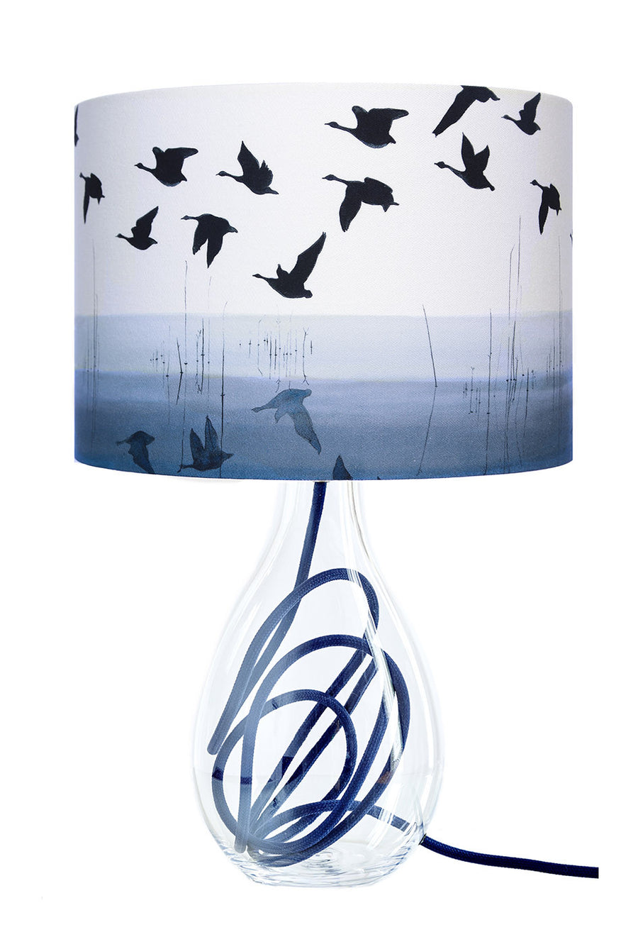 Welsh Reflection in INDIGO lamp<br />MEDIUM, 2 flex colour options