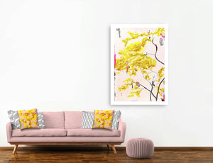 Chinese Tree on Blush<br/>print