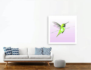 Hummer in Green on Lilac<br>print