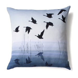 Welsh Reflection in INDIGO<br />linen cushion