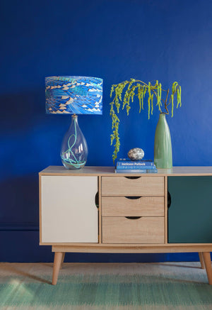 Blue Jay Wing lamp with Jade flex by Anna Jacobs in a lifestyle setting