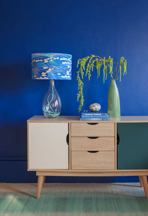 Blue Jay Wing on Jade flex by Anna Jacobs in a lifestyle setting