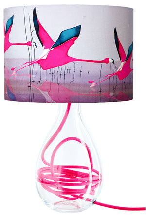 Breaking Dawn in Raspberry medium lamp