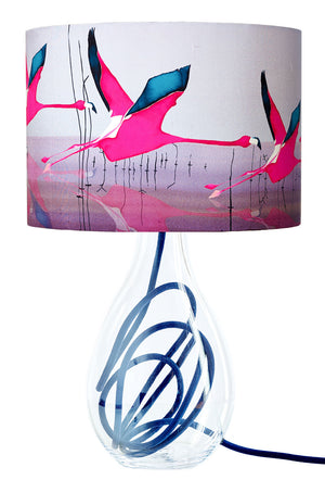 Breaking Dawn on indigo medium lamp