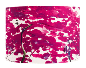 Chinese Tree in Pink and Violet lampshade by Anna Jacobs - medium