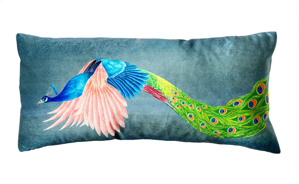 Flying Peacock<br />velvet bolster