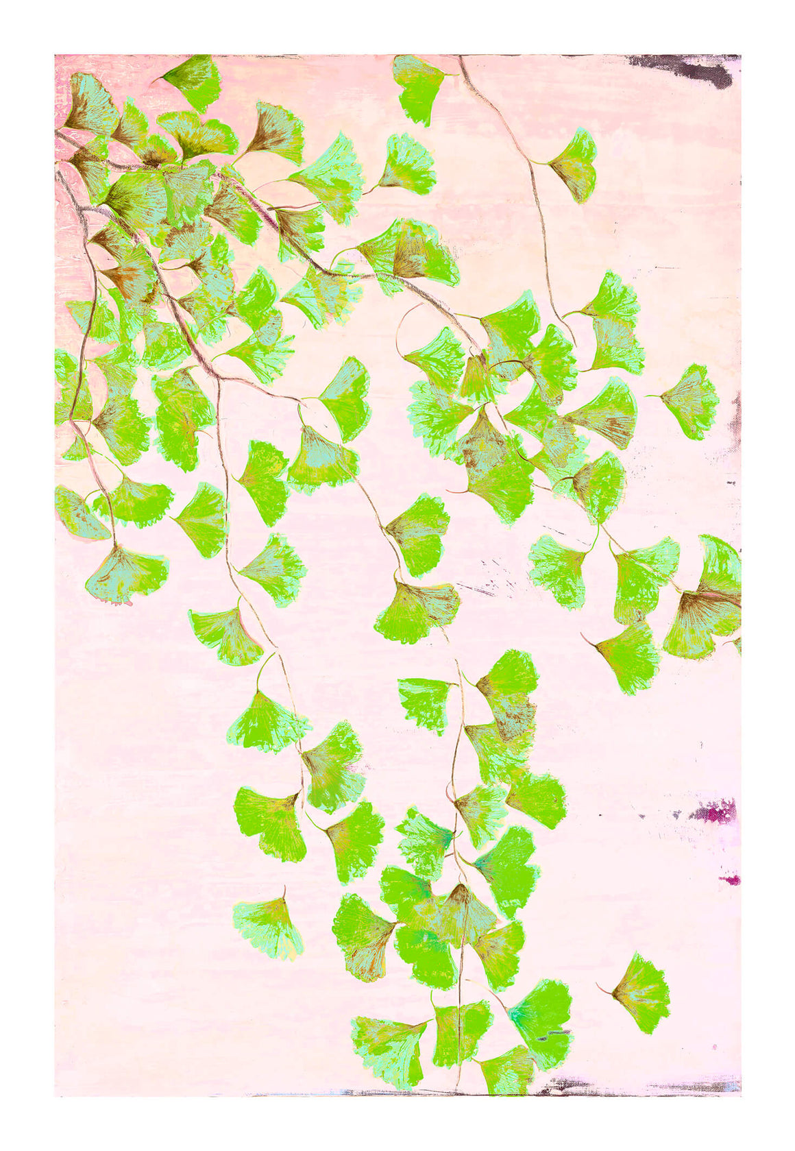Ginkgo Tree in Green<br />print