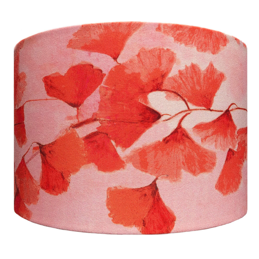 Ginkgo in Coral lampshade