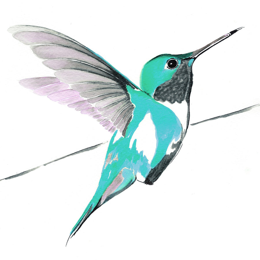 Hummer in Blue<br/>greeting card