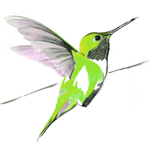 Hummer in Green<br/>greeting card