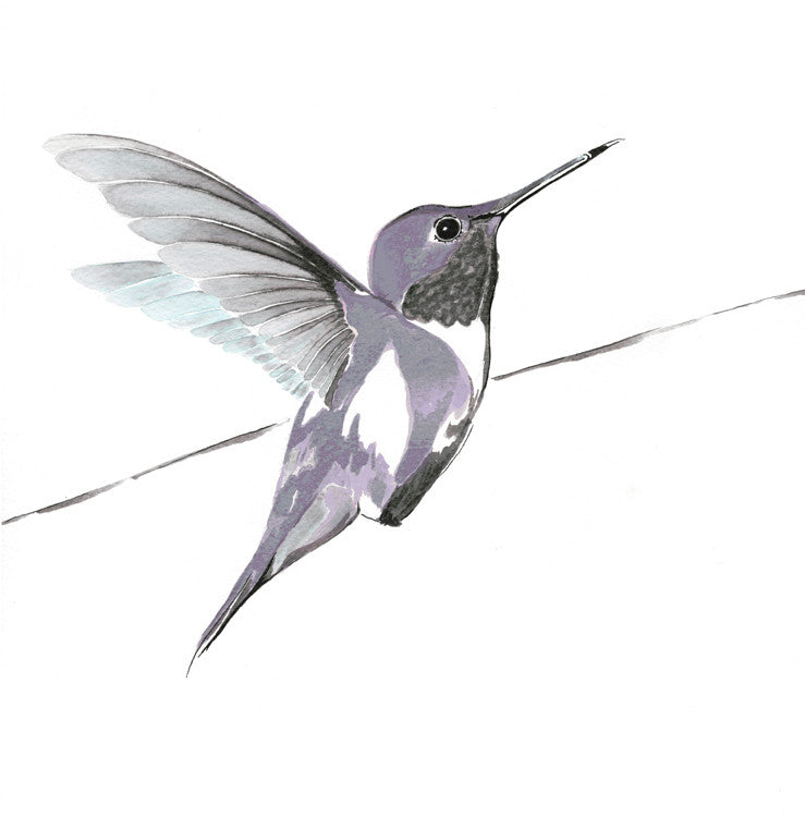 Hummer in purple<br />print