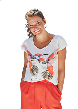 Hummingbird T-Shirt in Mandarin<Br>LIMITED EDITION