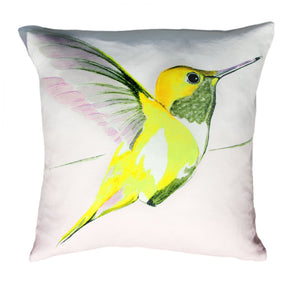 Lemon Hummer<br />linen cushion