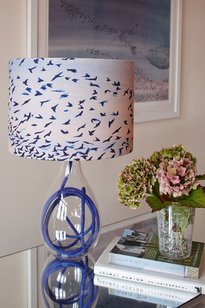 Murmuration<br />cotton lampshade