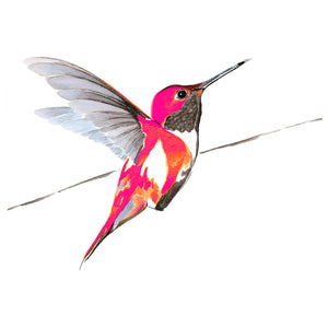 Hummer in pink<Br>Print