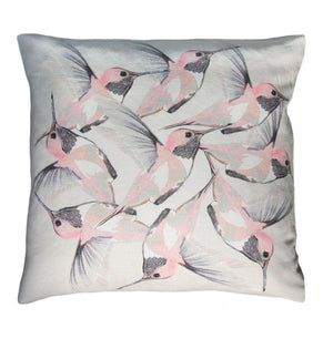 Rose Hummer<br />linen cushion