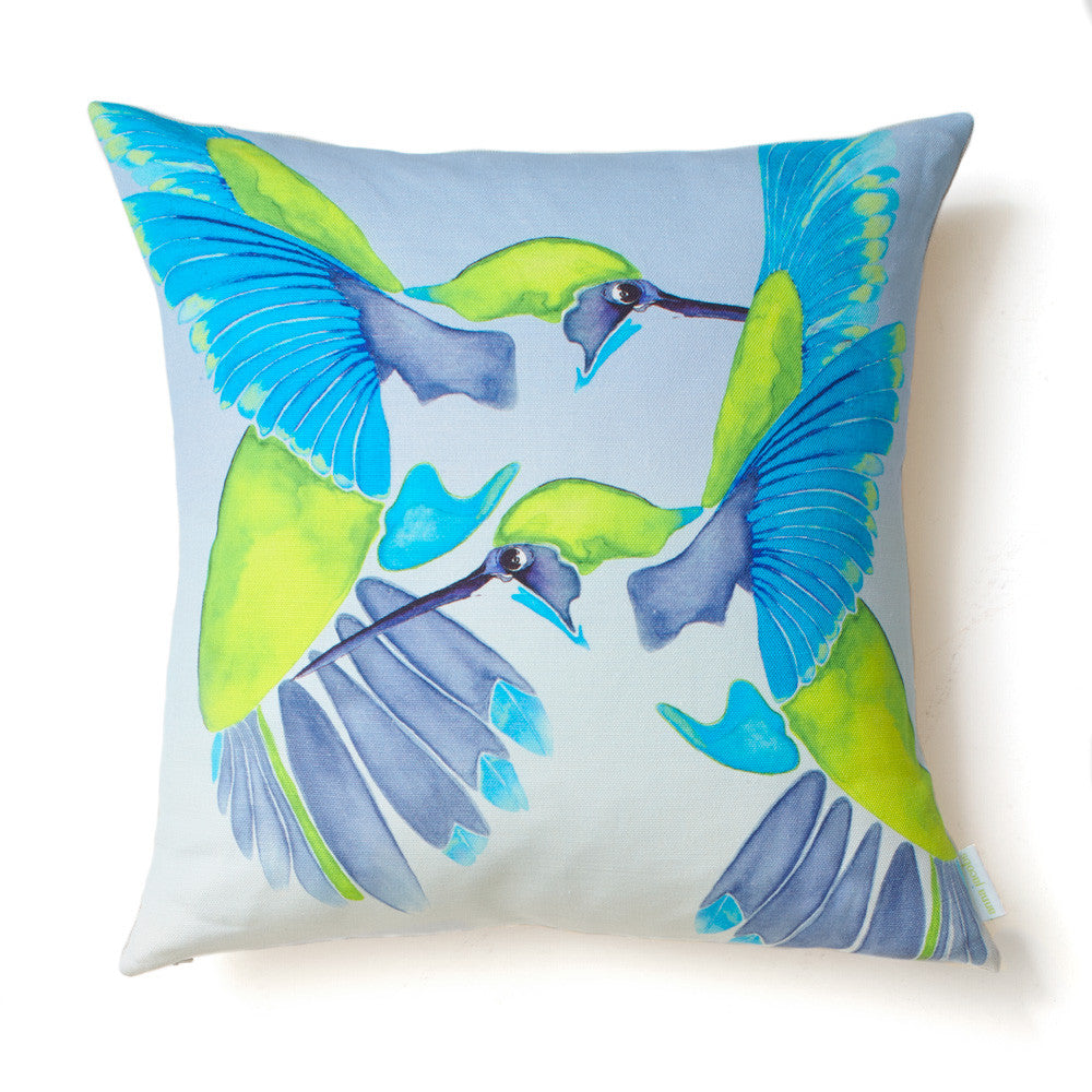 Sipping nectar<br />linen cushion