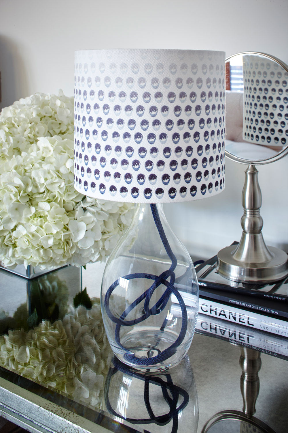 Seeing in Black & White<br />cotton lampshade