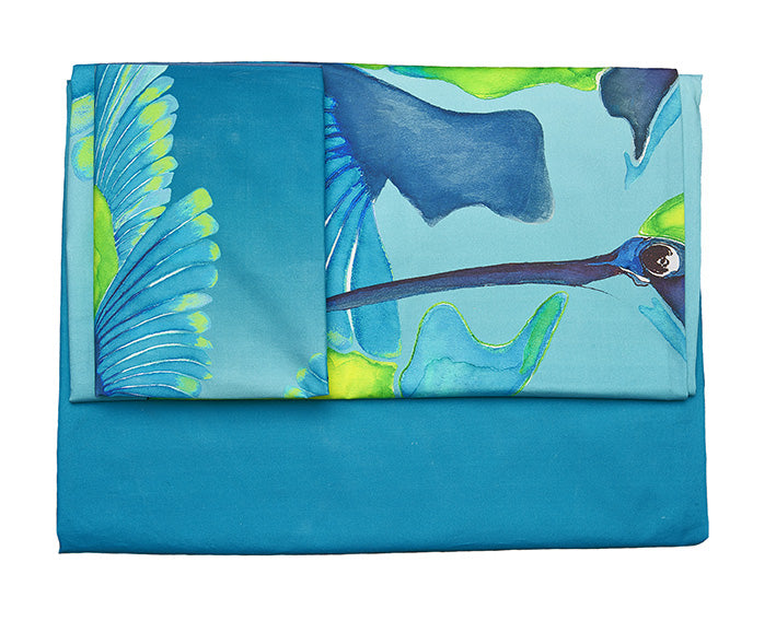 Sipping Nectar bed linen by Anna Jacobs - flat image to show full set
