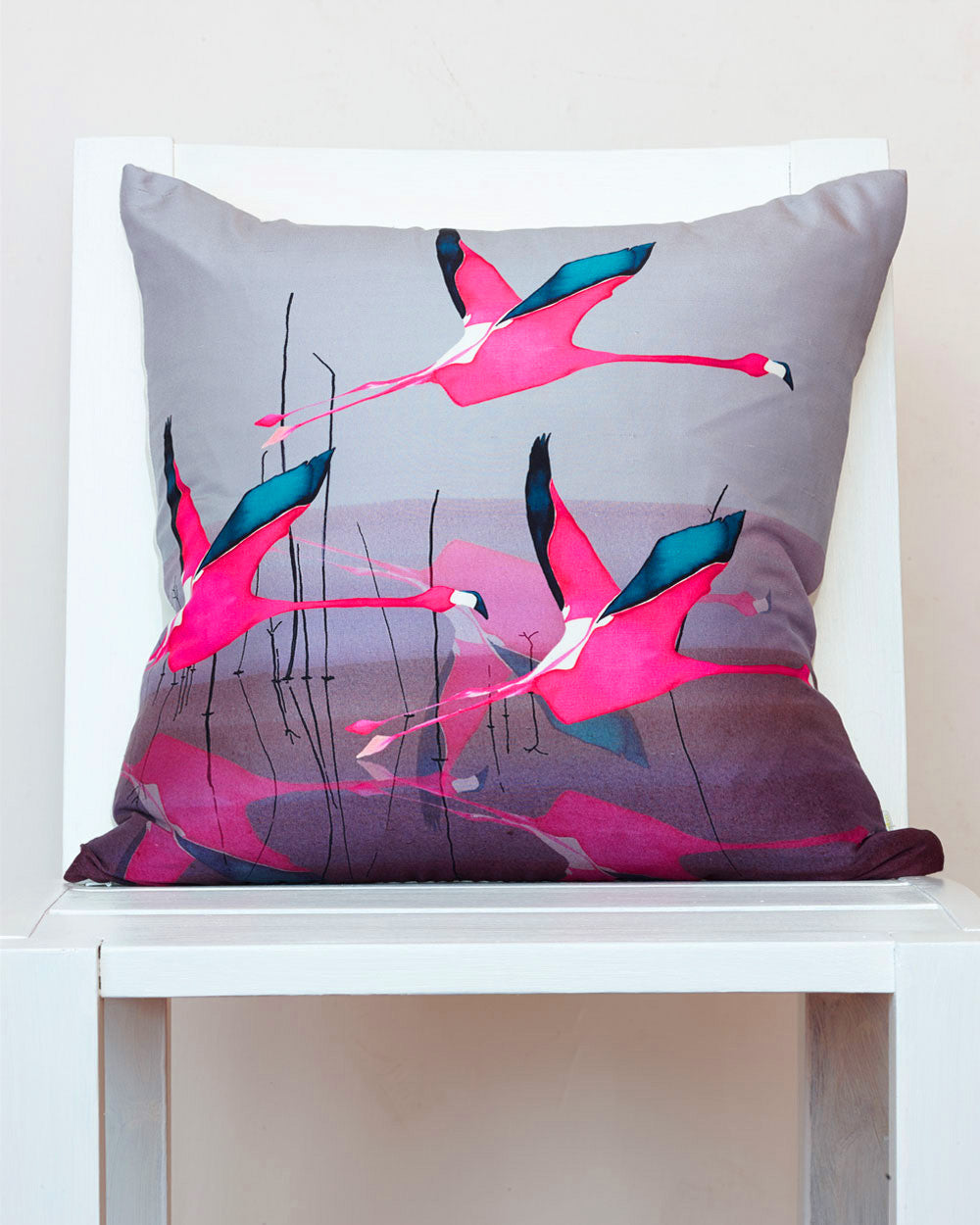 Breaking Dawn<br />square silk cushion