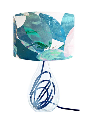 Falling Leaves in Winter medium lamp on Indigo flex by Anna Jacobs
