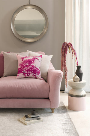 Chinese Tree in Pink and Violet Bolster COVER
