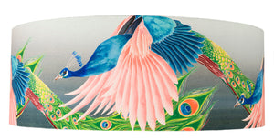 Peacock lampshade by Anna Jacobs - Flying Peacock - extra large size cut out