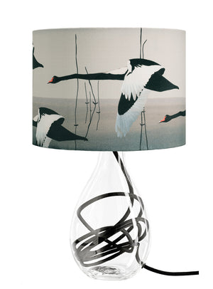 Black Swan lamp - Meditation in Flying on black flex by Anna Jacobs