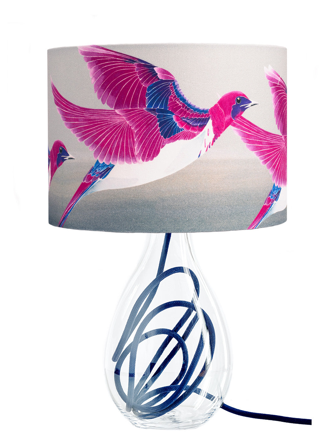 Starling lamp on indigo flex by Anna Jacobs