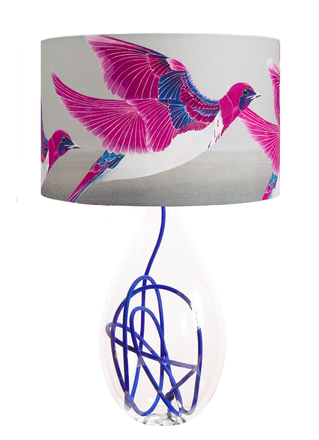 Violet Backed Starling lamp<br>LARGE, 2 flex colour options