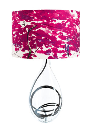 Chinese Tree in Pink and Violet lamp on Black flex by Anna Jacobs