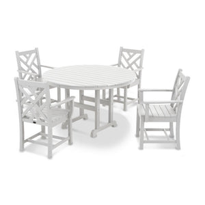 Chippendale 5-Piece Round Arm Chair Dining Set