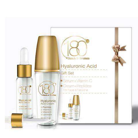 Image of Younger You Bundle - Hyaluronic Acid Serum w/ Vitamin C + Hyaluronic Cream w/ Peptides