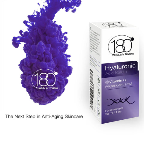 Image of Hyaluronic Acid Serum for Face - 180 Cosmetics - Face Lift Skin Serum for Face and Eyes - Pure Hyaluronic Acid For Immediate Results - Hydrating - Anti Aging - Anti Wrinkle