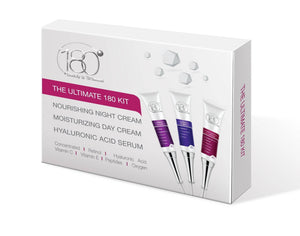 The Ultimate 180 Kit - Day Cream, Night Cream and Hyaluronic Acid Serum