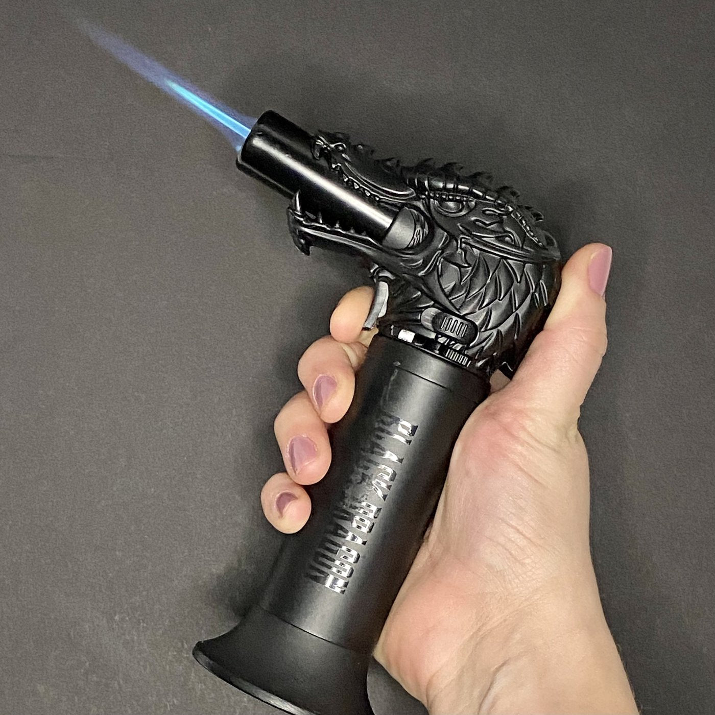 Black Dragon Head Jumbo Torch REFILLABLE Butane Lighter