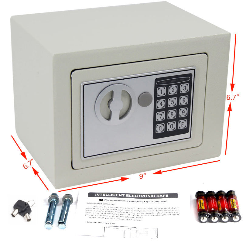 Electronic Safety Box Security Home Office Digital Lock Jewelry Black Safe Money XH
