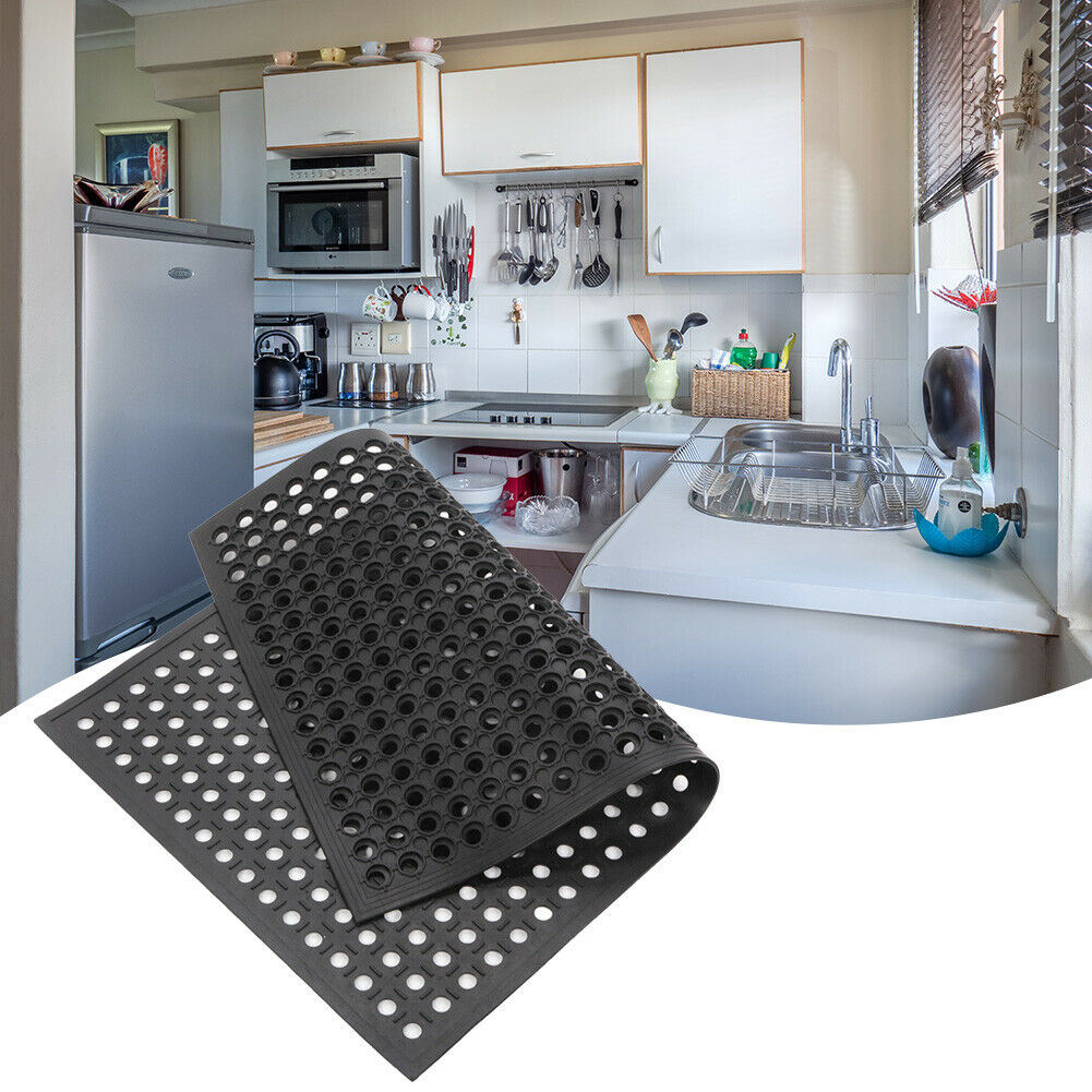 Free shipping Bar Kitchen Industrial Multi-functional Anti-fatigue Drainage Rubber Non-slip Hexagonal Mat 60*90cm