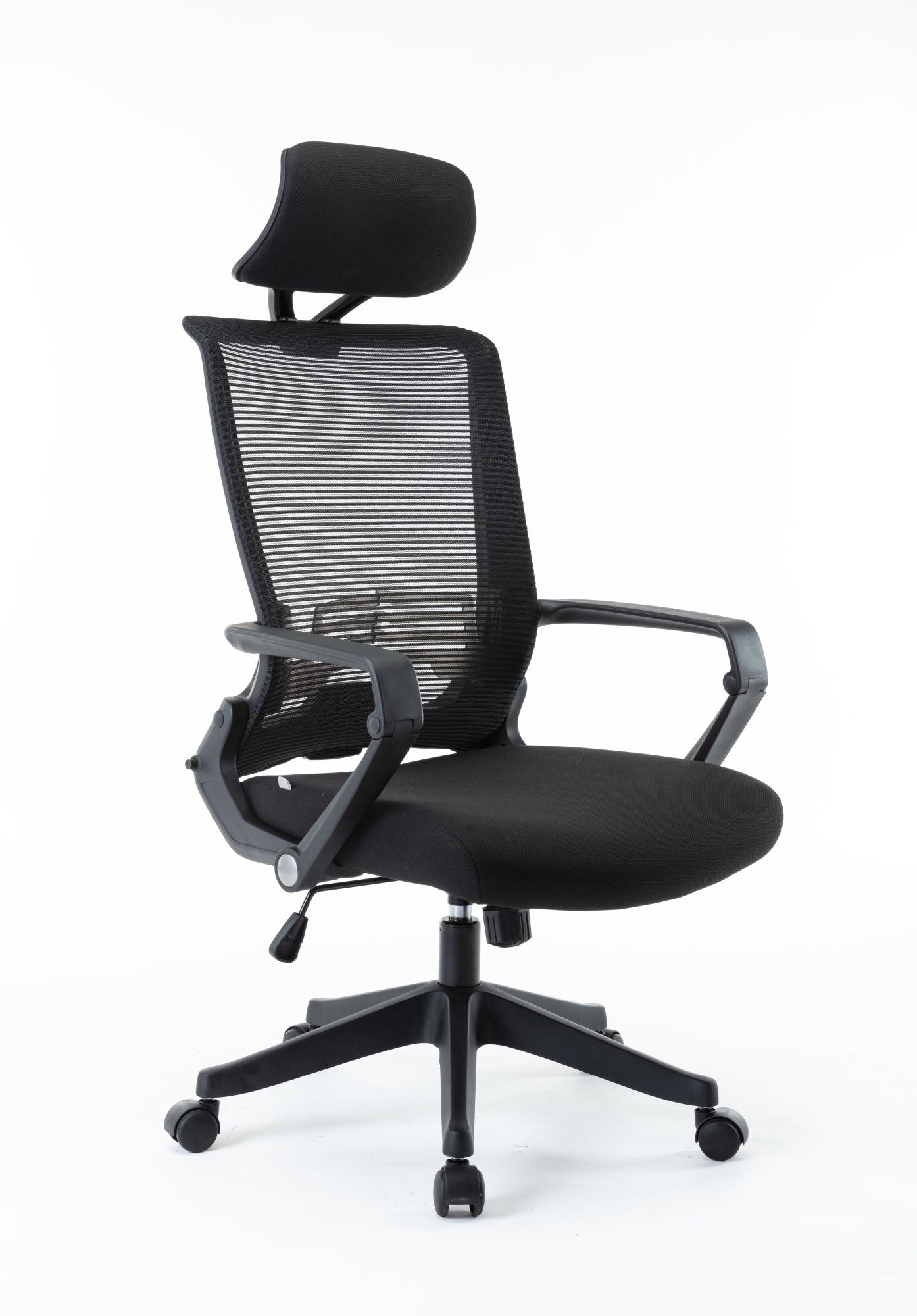 Free Shipping Mesh Office Chair, High Back Chair - Adjustable Headrest with Arms,  Lumbar Support