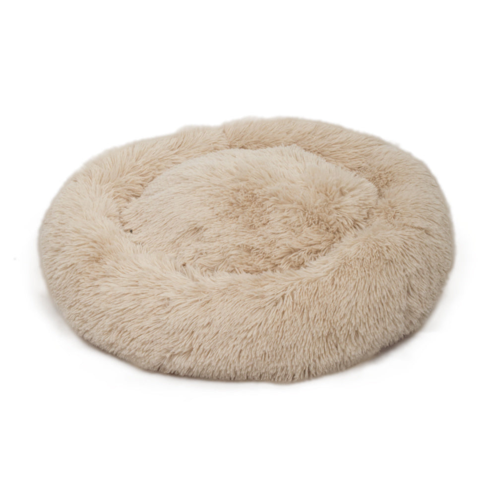 Dog Bed Cat Bed Comfortable Donut Cuddler Round Dog Pillow Bed Nest Anti-Slip Faux Fur Pet Bed Ultra Soft Washable Pet Cushion Bed for Dog Cat Joint-Relief and Improved Sleep YF