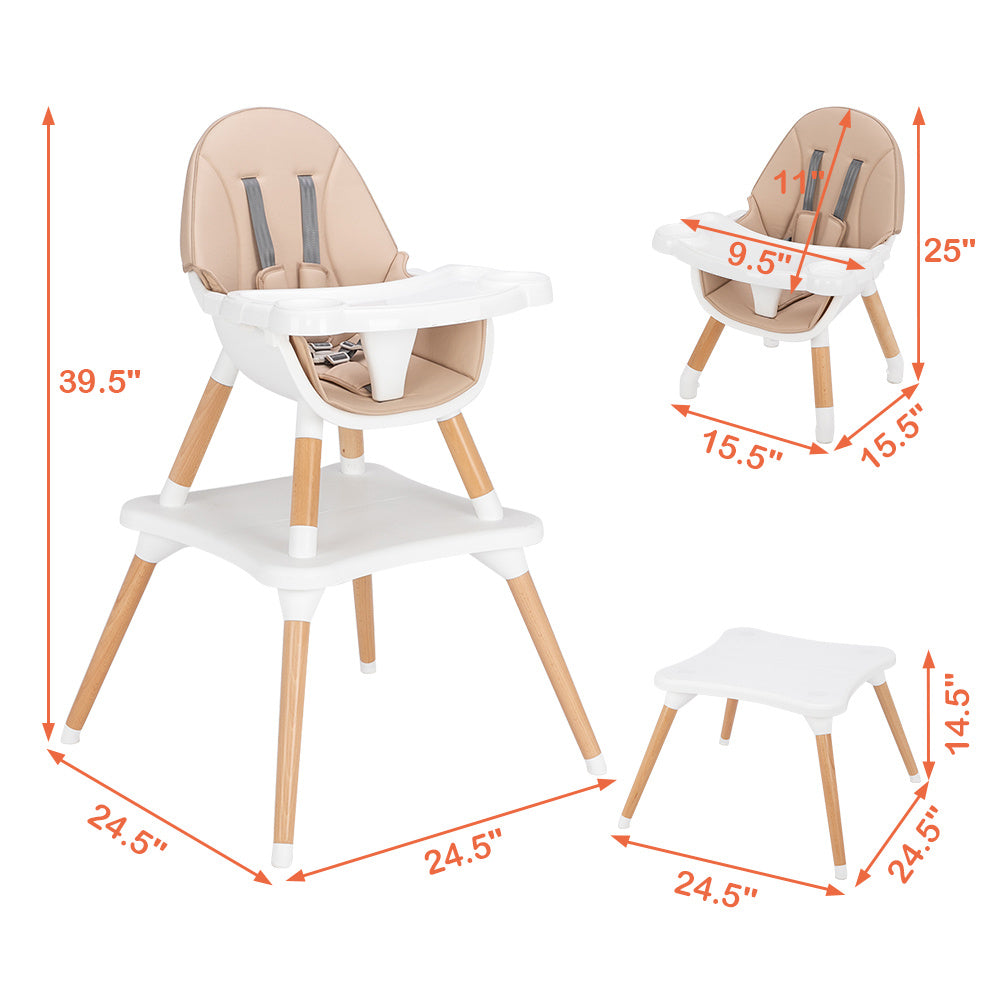 Free shipping Children's High Dining Chair Detachable Two-In-One Table And Chair  YJ