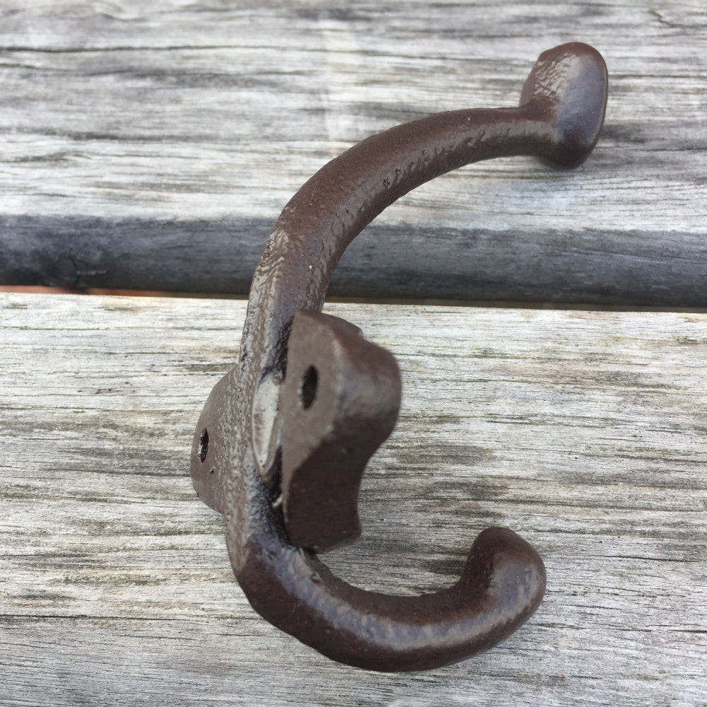 "5 Pack Vintage Style Cast Iron Wall Coat Hooks Hat Hook Hall Tree 3 3/4"" Coffee RT"