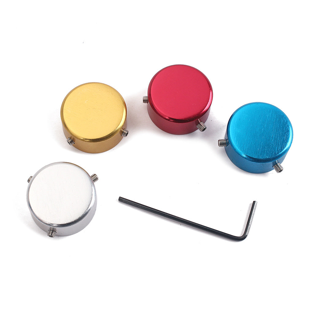 1 Set Electric Guitar Pedal Foot Nail Cap Foot Switch Knob Shiny Guitar Effect of Foot Head Of Nail Aluminum with Wrench and Screws