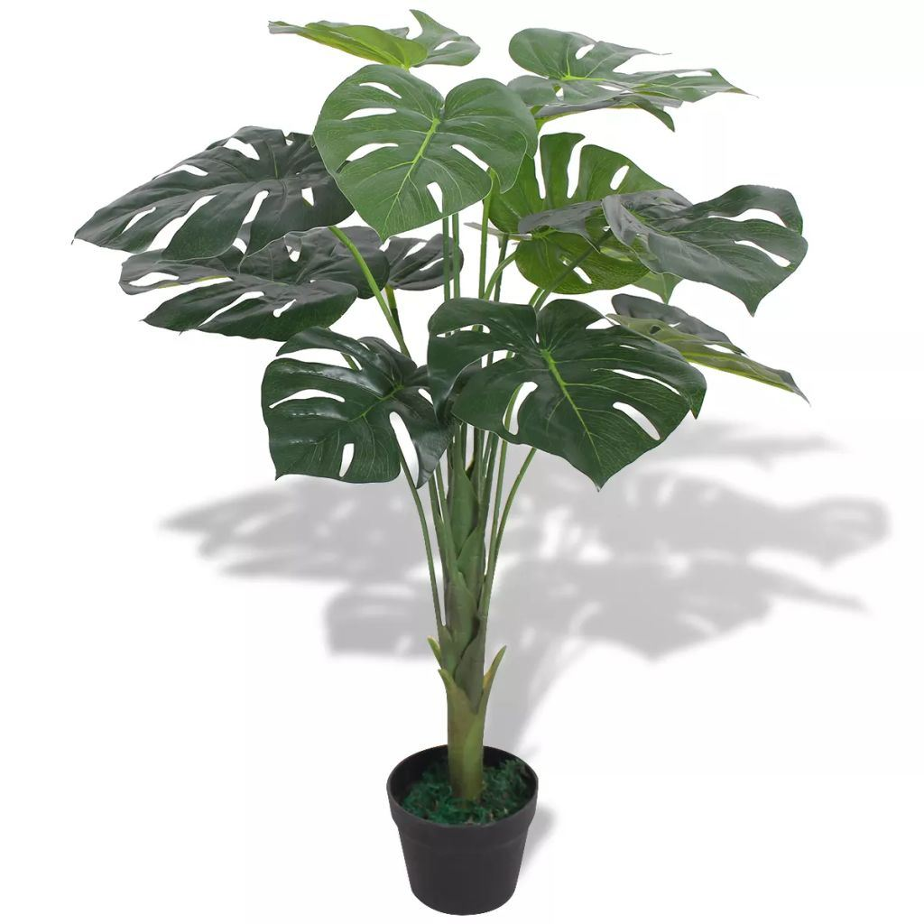 "Artificial Monstera Plant with Pot 27.6"" Green"