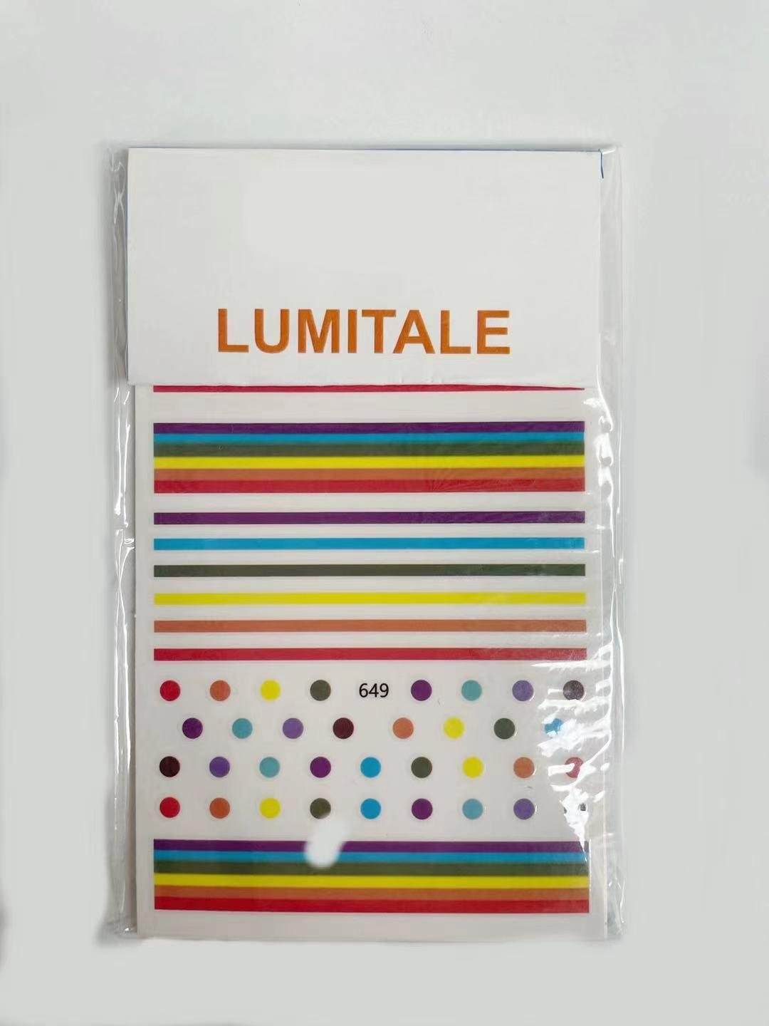 LUMITALE Floral Nail Art Polish Stickers