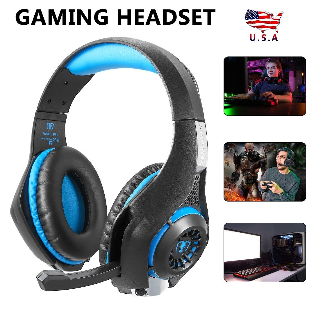 Free shipping 3.5mm Gaming Headphone Headset With Microphone For Nintendo PS4 Xbox One YJ