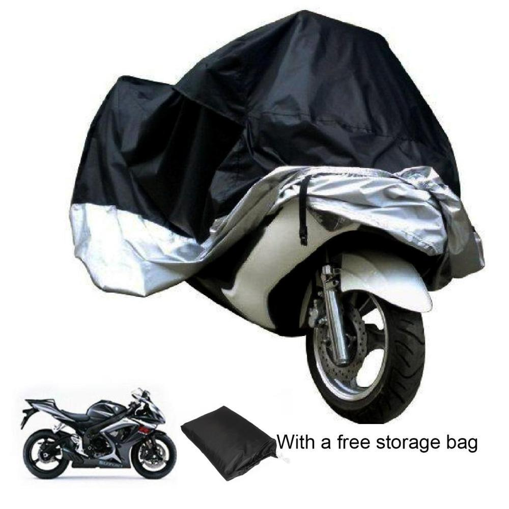 Motorcycle Cover Waterproof Outdoor & Indoor [Medium] Heavy Duty Premium Bike Cover, Moped Cover for Harley Davidson  Scooter Cover Heat-Resistant, Scratch-Free & Breathable for Ideal Storage