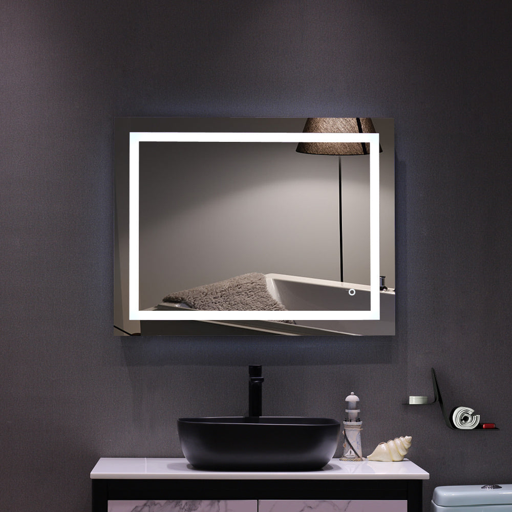 4 Size Bathroom LED Vanity Mirror Wall Mounted Makeup Mirror with Light (Horizontal/Vertiacl)